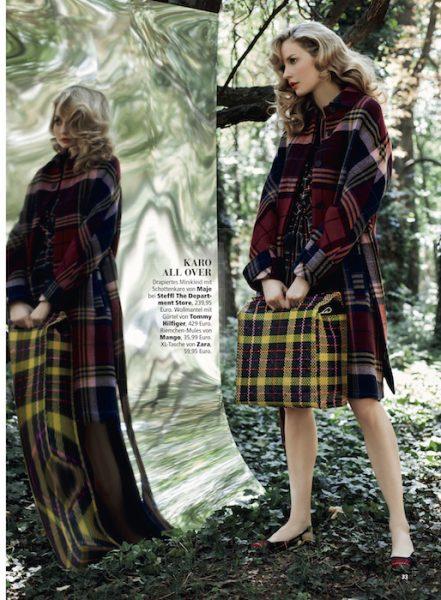 Kathrin Werderitsch in Karo-Style for Madonna magazine
