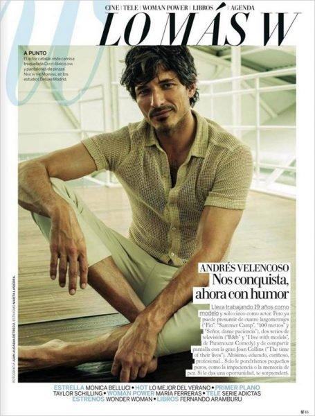 Andres Velencoso Segura for Madame Figaro Woman magazine July 2017