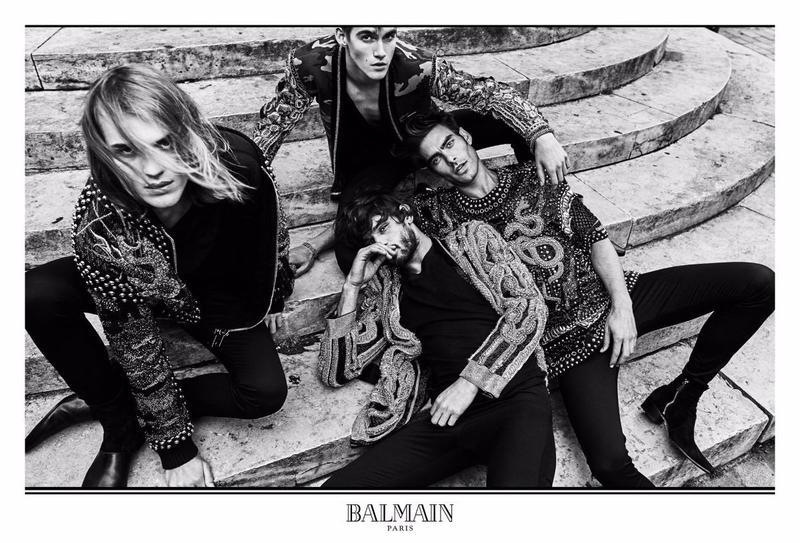 Jon Kortajarena for Balmain Fall/Winter 2017 Campaign