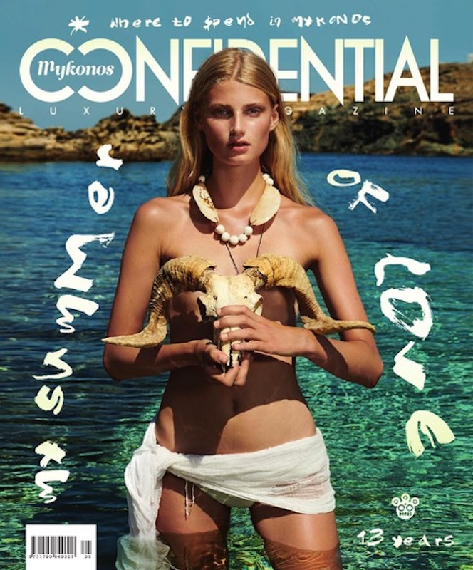 Maja Olsson for Mykonos Confidential magazine