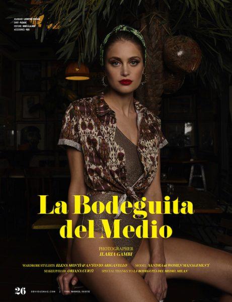 Sandra Nadja for Obvious magazine by Ilaria Gambi