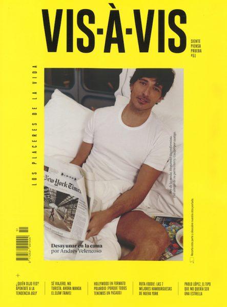 Andres Velencoso for Vis-À-Vis by Borja de la Lama