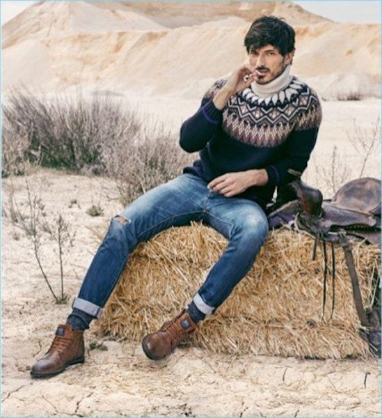 Andres Velencoso for xti's fall winter campaign 2018