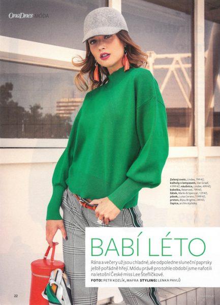 Lea Steflickova for Ona Dnes magazine by Petr Kozlik
