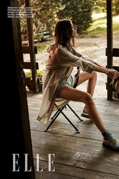 Beautiful editorial of Renata Kurczab for Elle Spain by Rafa Gallar